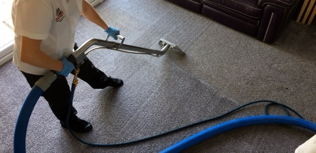 Gerrards Carpet Cleaners in action
